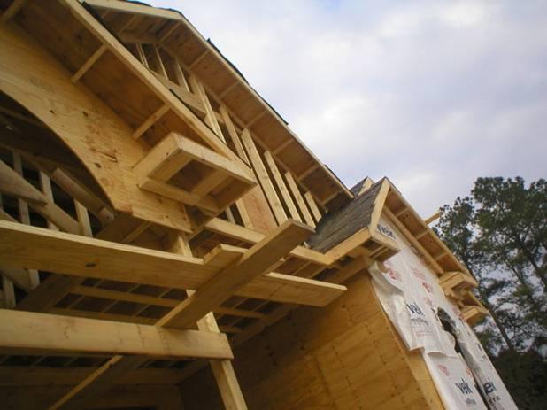 北美轻型木结构别墅的建造流程展示