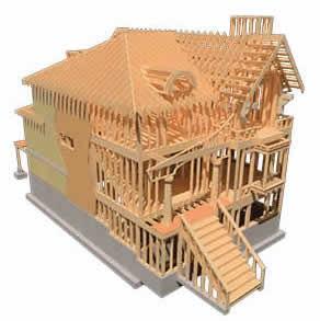 轻型木结构屋顶建造
