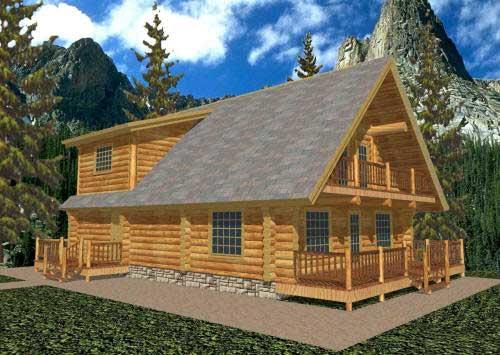 2层原木木屋设计图 木屋设计 加工技术 中国木屋网 木别墅