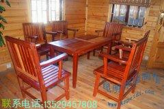 山樟木实木桌椅/户外实木